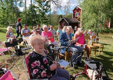 Friluftsgudstjänst i Bäckegruvan (Gammelbo) mot alla odds