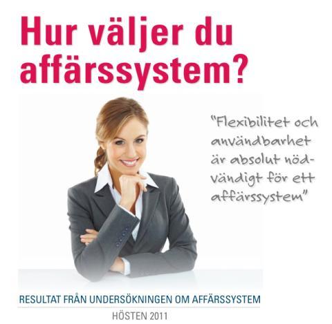 Pris och användbarhet viktiga vid val av affärssystem