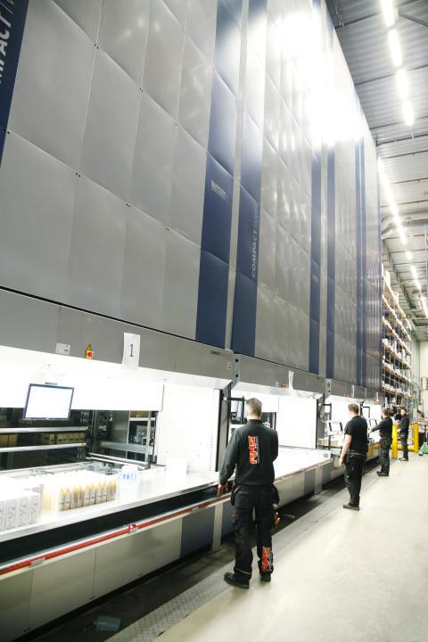 Hissautomater från Weland Lagersystem i full drift hos Bergendahl