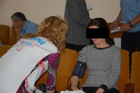Health Expo på Bacaufängelset i Rumänien