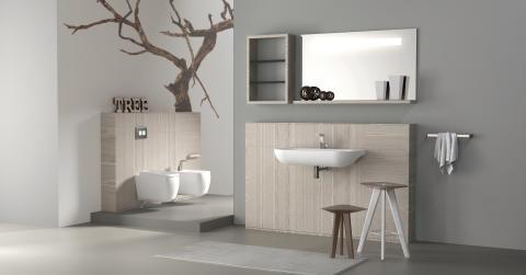 Installationsvägg för badrum
