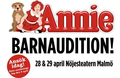 Barnaudition till musikalen Annie!