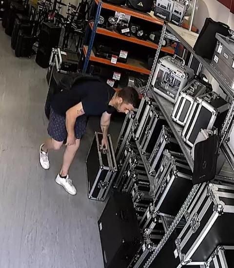 Suspect at shop