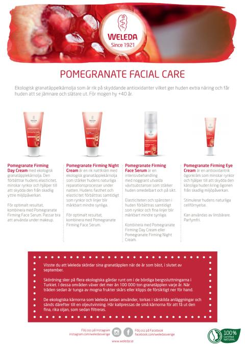 Samlingsblad Pomegranate Facial Care