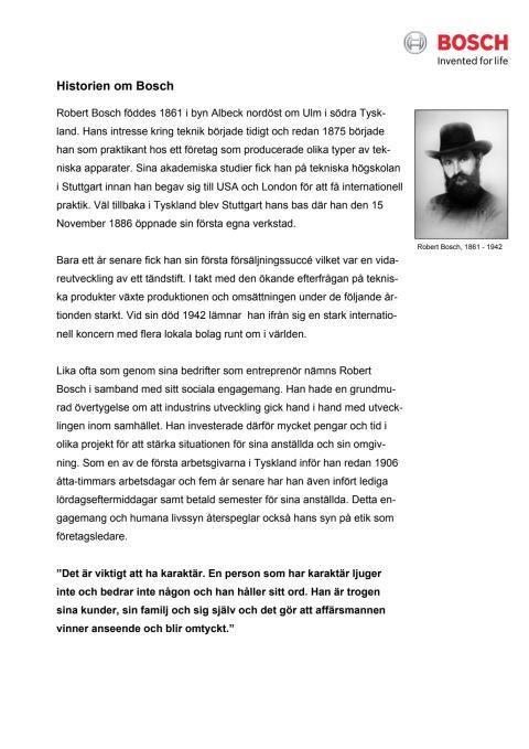 Bosch historia