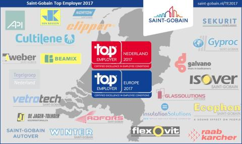 Saint-Gobain: Top Employer Nederland 2017 & Europe 2017