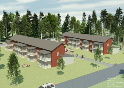 De sju första lägenheterna i Järbo hyrdes ut på 2,5 timme!