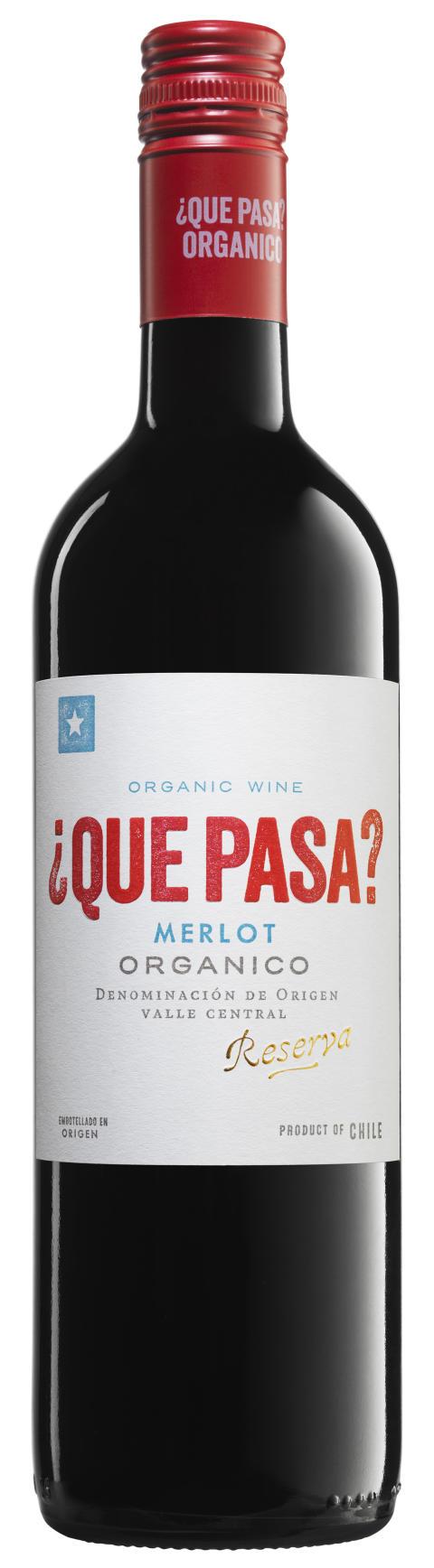 ¿Qué Pasa? Merlot Organico Reserva 2015