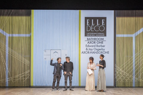 "Intuitivt betjeningspanel til dusjen – Axor One – vinner Elle Decor International Design Award for ""Beste bad-design"""