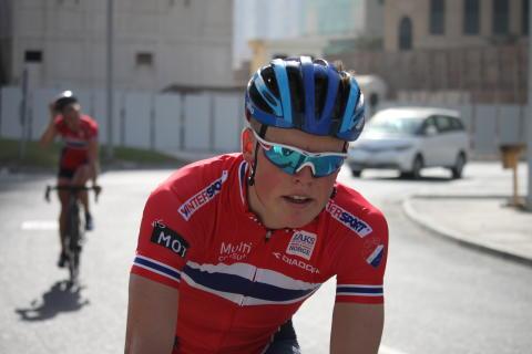 Anders Skaarseth under sykkel-VM i Doha 2016