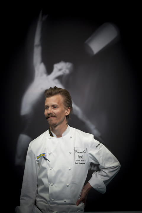 Paul Svensson, presenatör under Bocuse d'Or Europe 2014