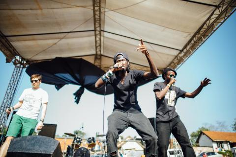 WE LOVE YOUGANDA: YAEP - Young Artists Exchange Project performing in Kampala at the #weloveyouganda festival