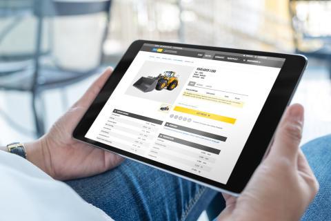 Swecon Baumaschinen GmbH - Ansicht mySwecon Mietshop Tablet