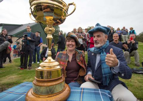 Ryder Cup Trophy visits Braemar Golf Club!