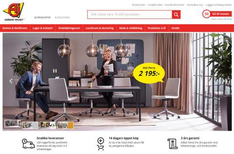 AJ Produkters e-handel nominerad till Sveriges bästa webbplats