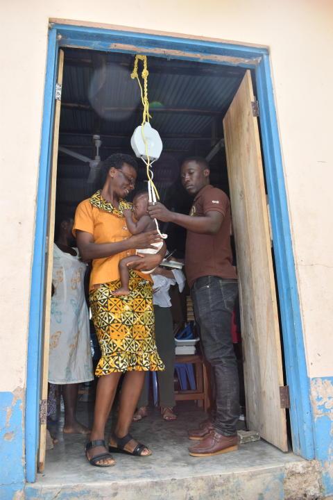 Viktkontroll av barn i epicenter, Ghana 2019