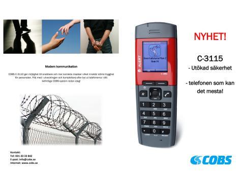 COBS C-3115 Utökad säkerhet - broschyr