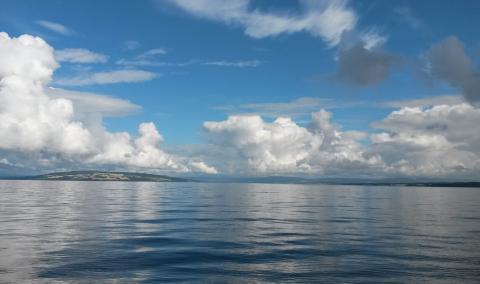 Mjøsa sett fra Skreia mot Helgøya