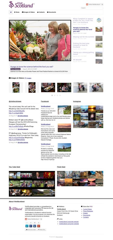 VisitScotland launch new online newsroom