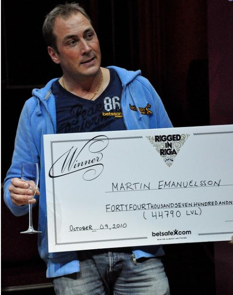 Betssonspelare tar hem Grand Series of Poker i Riga - Martin Emanuelsson vann Rigged in Riga och knappt 600 000 kr