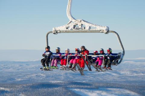Skilift i Sälen