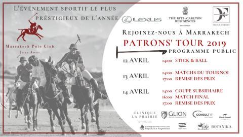 REJOINEZ-NOUS À MARRAKECH - PATRONS' TOUR DE MARRAKECH POLO CLUB JNAN AMAR, 12-14 AVRIL