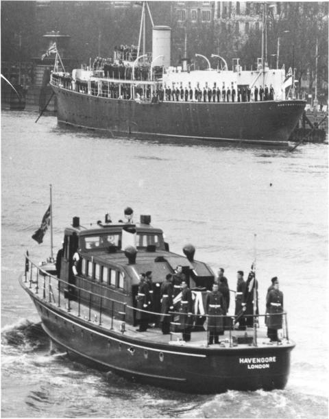 Image - Sika UK - Sir Winston Churchill's Body Being Carried on MV Havengore During his State Funeral in 1965