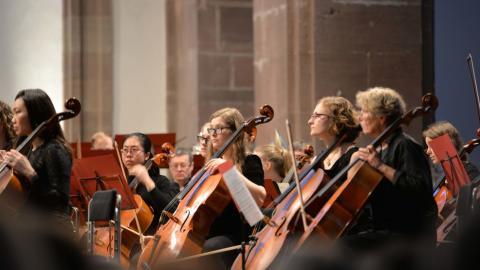 Orchester des Collegium Musicum bei einem Auftritt.