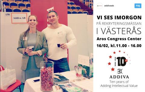 Addiva på rekryteringsmässan i Västerås