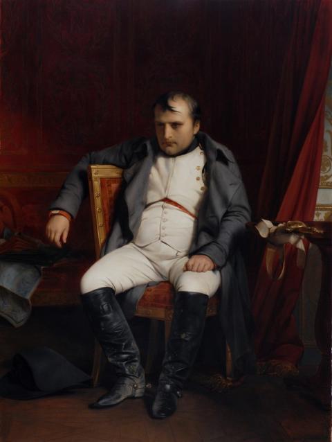 Paul Delaroche, Napoleon I. in Fontainebleau am 31. März 1814 nach Empfang der Nachricht vom Einzug der Verbündeten in Paris, 1845
