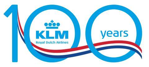 KLM 100 logo