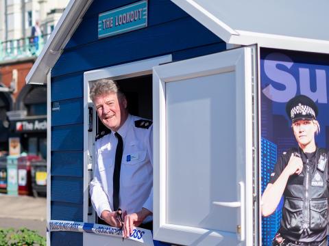 Sussex Police unveils its own beach hut