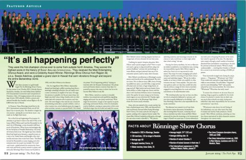 Featured article: It's all happening perfectly. | The Pitch Pipe Jan 2014