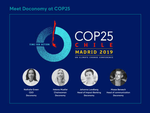 Doconomy at COP25 in Madrid