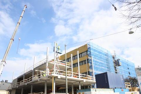 Bygget i mars