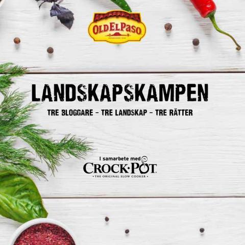Receptsamling med med tacorecept typiska för Skåne, Dalarna och Närke