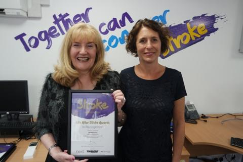 Horsham stroke survivor receives regional recognition