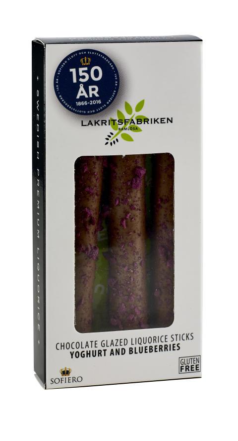 "Lakritsfabriken Liquorice Sticks Blueberry ""Sofiero 150 år"", 45g"