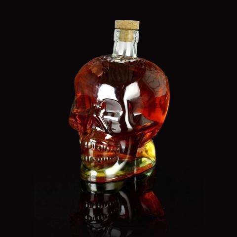 Dødningehovedflaske perfekt til Halloween