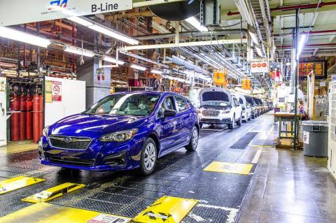 Subarus Indiana-fabrik ökar takten