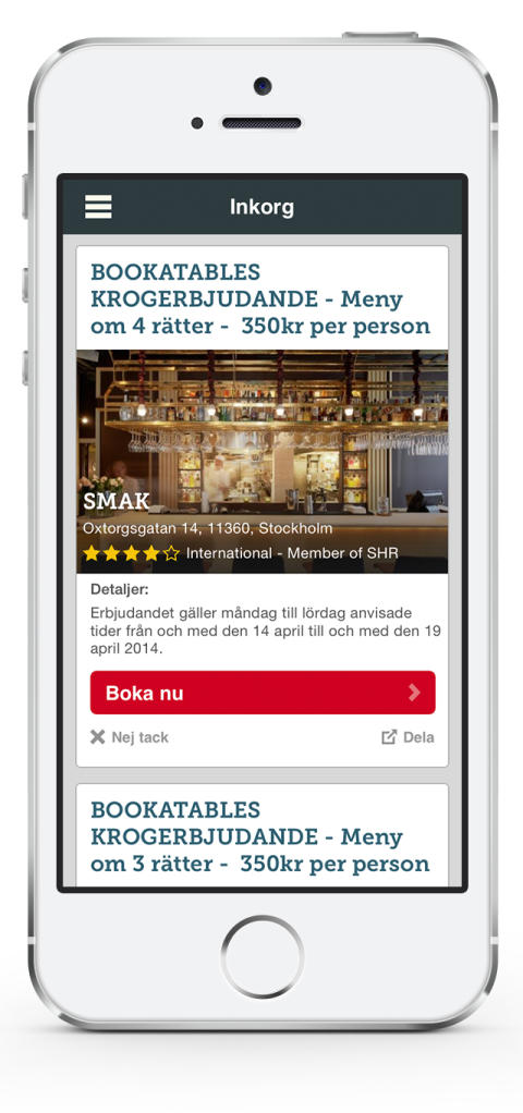 Bookatable app 1