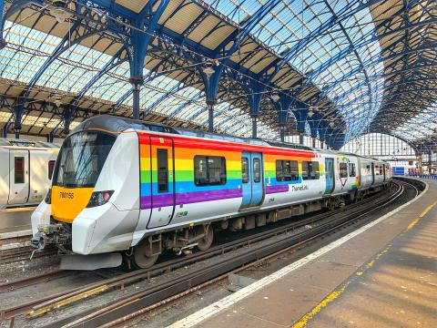 """""""Trainbow"""" departs for Brighton & Hove Pride"""