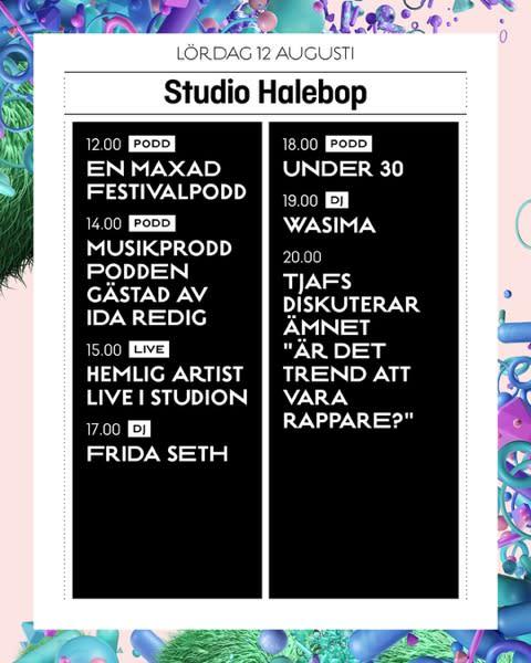 spelschema lördag studio halebop
