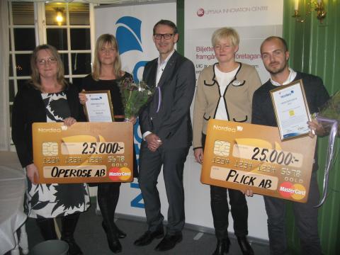 Operose och Plick fick Nordeas resestipendium 2014