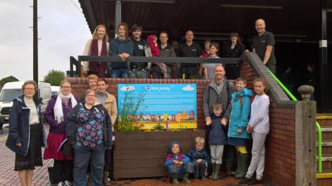 Northfield gets creative with art and planting for station
