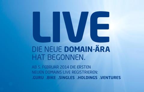 Neue Webadressen: Am 5. Februar 2014 bricht eine neue Internet-Ära an