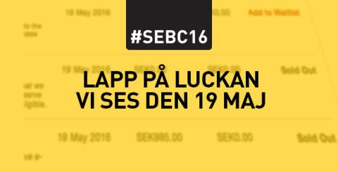 Nu är SEBC 2016 fullt!