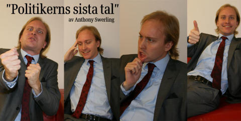 """Lilla Parken sätter upp den komiska monologen: """"Politikerns sista tal"""" av Anthony Swerling med premiär 24 februari 2012."""