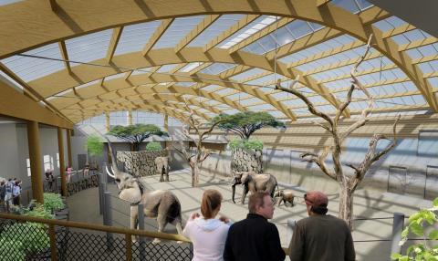 Wästbygg bygger till elefanthuset i Borås Djurpark