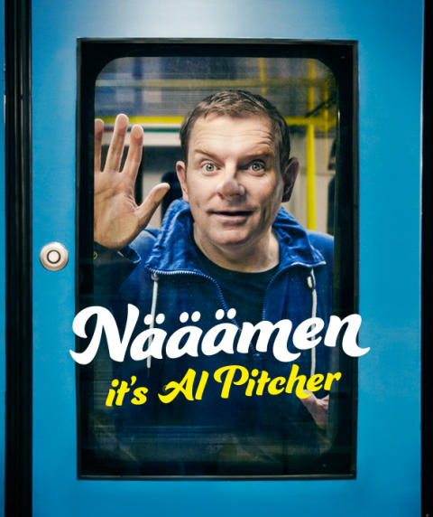 Al Pitcher utökar sin standup-show i Umeå